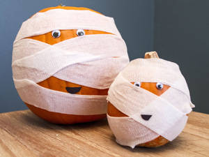 Thumbnail image for Mummified Pumpkin Craft